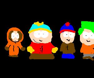 Kenny, Cartman, Stan, and Kyle