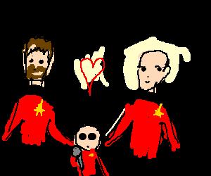 Lovechild of Picard and Riker sings karaoke