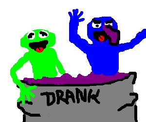 The Muppets take a bath in Purple Drank