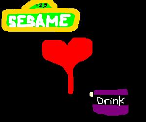 Sesame street loves purple drank