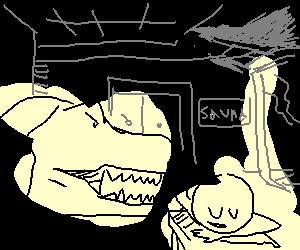 t-rex operates a massage parlour