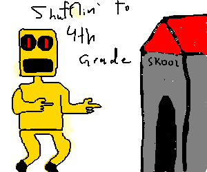 party rock robot enters fourth grade