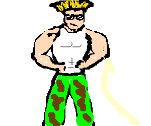 suave Guile from street fighter II looking good