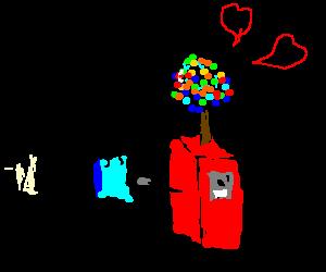 Dose the alien love candy machine