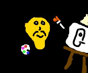 Lamp man painting