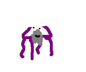 Bearded purple jellyfish whit a hat