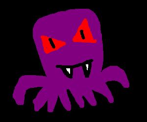 Mutant baby octopus monster