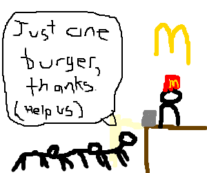 Human centipede orders a burger