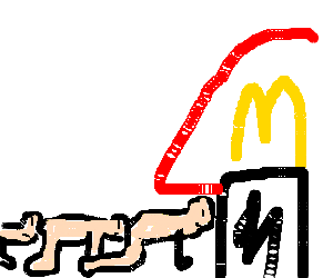 The first centipede to visit McDonalds!