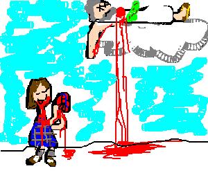 schoolgirl eating god's heart