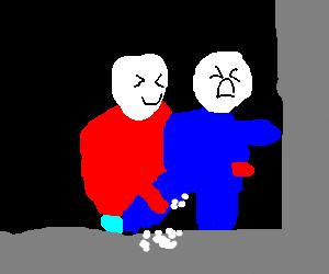 Lard Lad and Big Boy unite to form superchain.