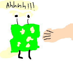 Mutated swiss cheese does not want to be eaten