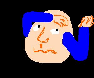 blue-armed head faints