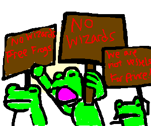frogs hate wizards