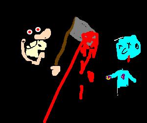 psychotic magician murders gangrenous Smurfs