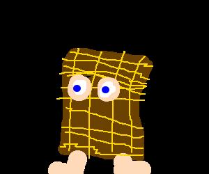 Man wearing a sack