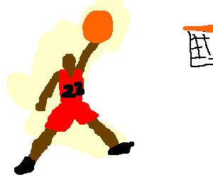 Michael Jordan Does Signature Dunk