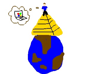 Bill gates at the top the world pyramid
