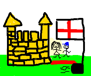 Bouncy castle's foot pump from England