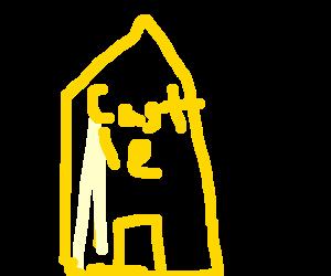 English couple enter golden castle