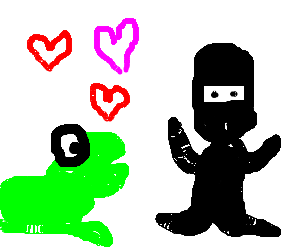 Frog is in love with ambiguous ninja