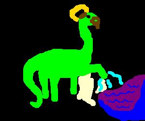 jesus as a dinosaur