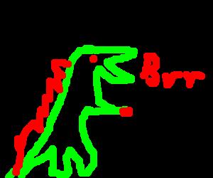Crying dinosaur