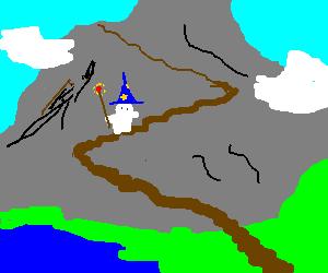 White Yeti mage climbs mountain