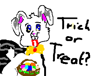 Easter Bunny plays vampire for Halloween