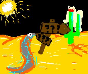 uptight eel lost in the desert