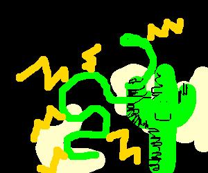 Electrophorus electricus cannot hurt cactus
