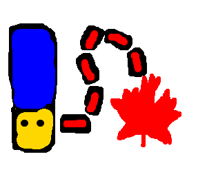 Marge Simpsons going to Canada