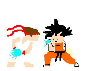 Street fighter vs. Dragonball chibi style