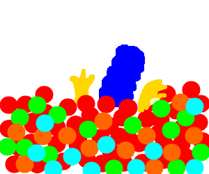marge simpson drowning in ball pit
