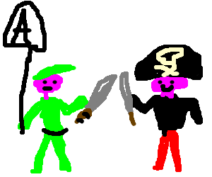Anarchist Peter Pan fights pirates