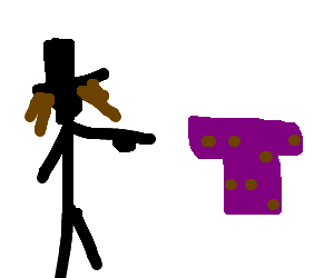 Hairy jewish man commands balding purple shirt