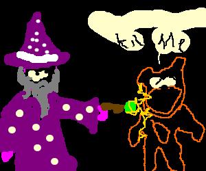 wizard zaps ailing teddy
