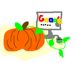 A pumpkin using google