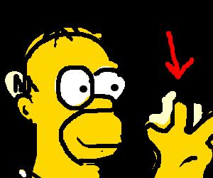Homers hand