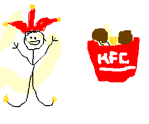 Jester is excited about KFC