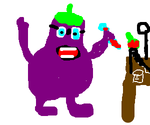 Eggplant does biochemistry.