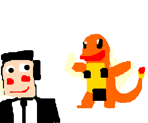Russian secret agent aroused by Charmander.