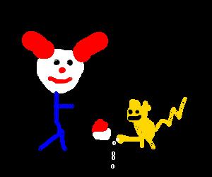Clown chooses horney pokemon