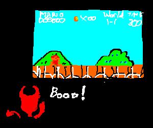 Devil critiques Mario's epic quests.