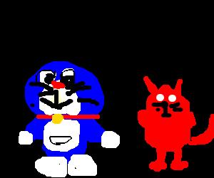 Doraemon talking to Evil HR Director.