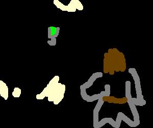 Jesus in a nightclub