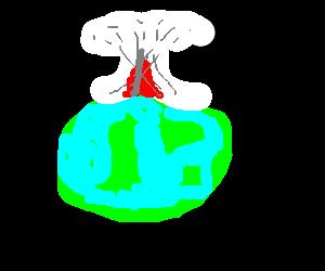 Nuclear warhead explosion