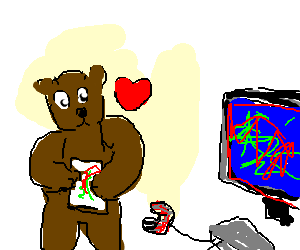 A bear's favorite video game.