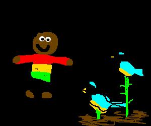 Rastafarian man grows tits