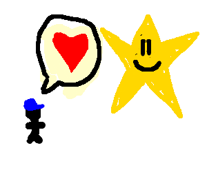 Boy tells star that he loves it